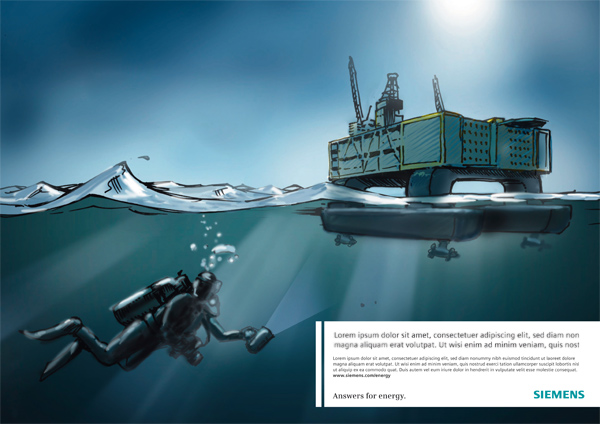 Siemens - scribble of the drilling rig / Henning Kanemann