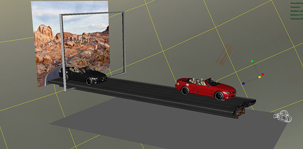 3d scenery of the road