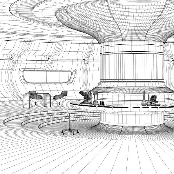 wireframe 3d-room