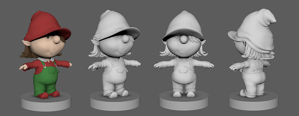 basic 3d-model of the elf