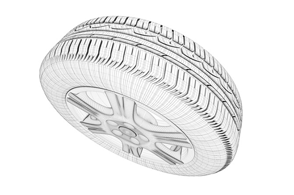 Fulda Eco Control - wireframe of the tire
