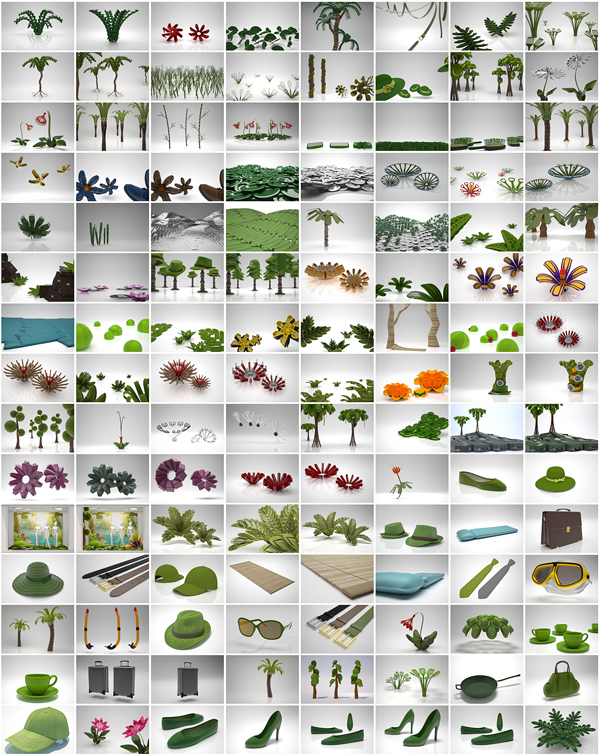 Sommer Layoutmodelle zur Absprache von Form und Farbgebung