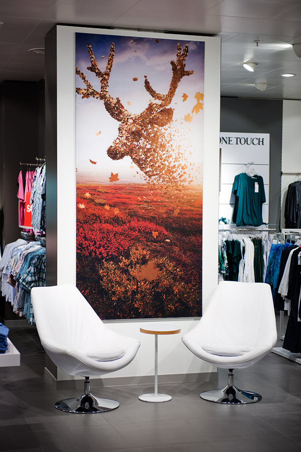 example of the campaign in the department store