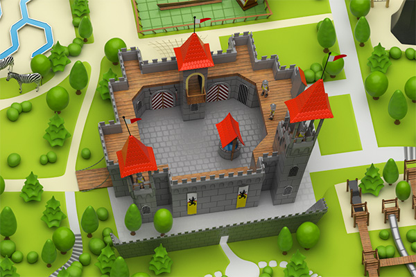 Playmobil -3d model castle