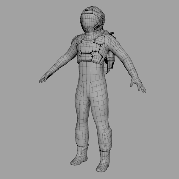 wireframes of the 3d model of the marsian